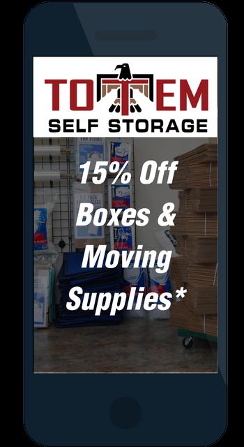 Save at Totem Self Storage Kent, WA